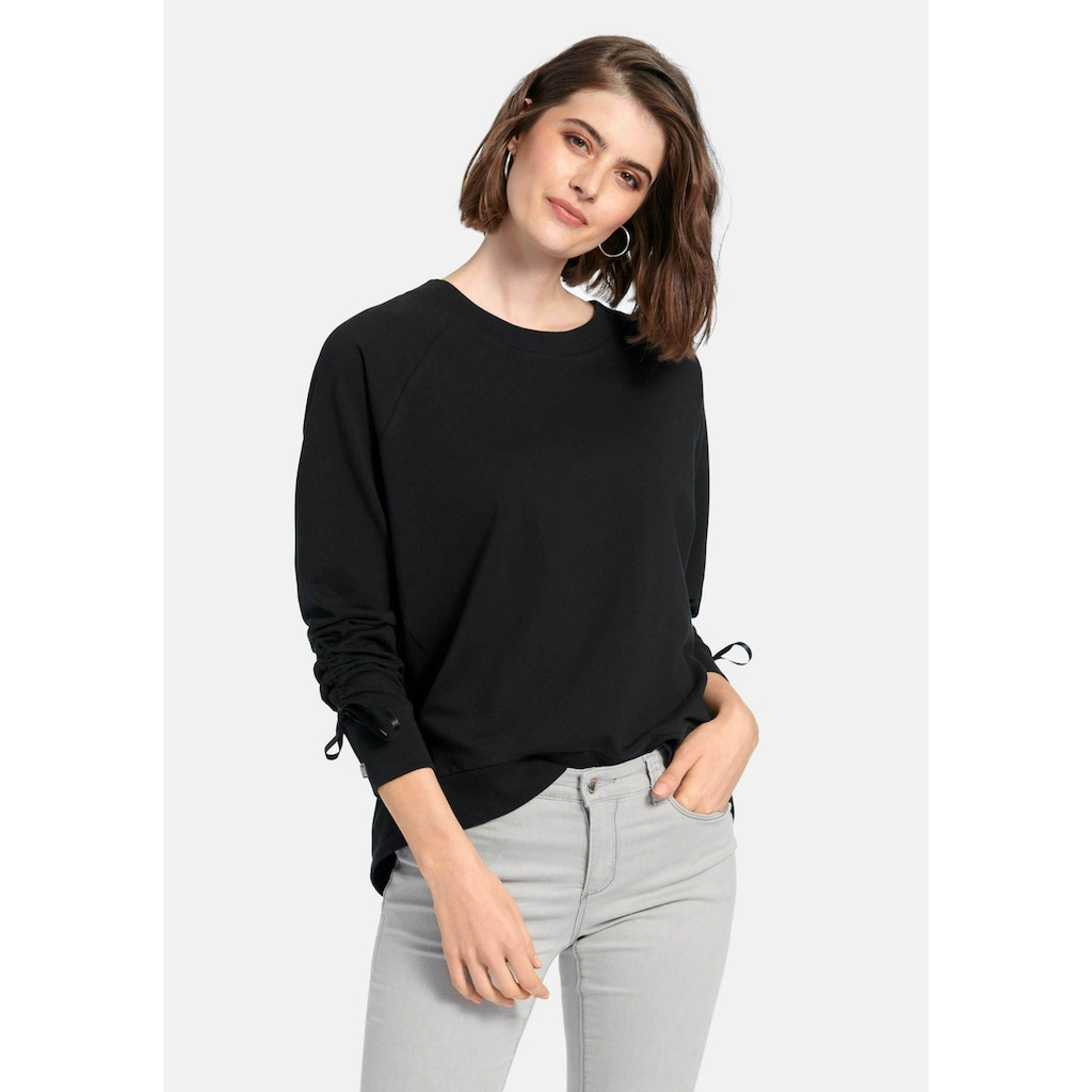 Looxent Sweatshirt »Sweatshirt«, mit Raffungen am Arm