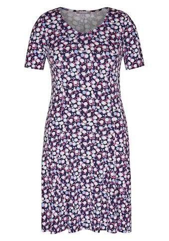 Rabe Kleid mit Allover-Print und Raffungen kaufen