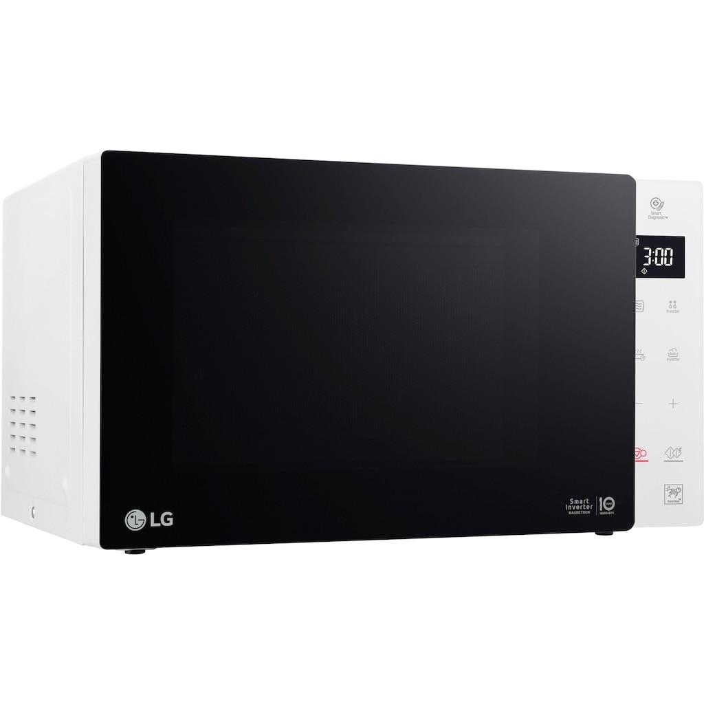 LG Mikrowelle »MS 23 NECBW«, Mikrowelle, 1000 W, Smart Inverter Technologie, echte Glasfront