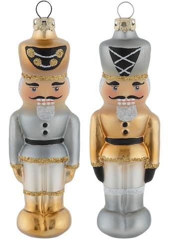 "Thüringer Glasdesign Christbaumschmuck ""Black&White&Gold"" (2 - teilig) kaufen"