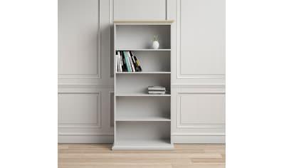 Home affaire Bücherregal, mit einer schönen Deckplatte in eiche/struktur, erstrahlt in... kaufen