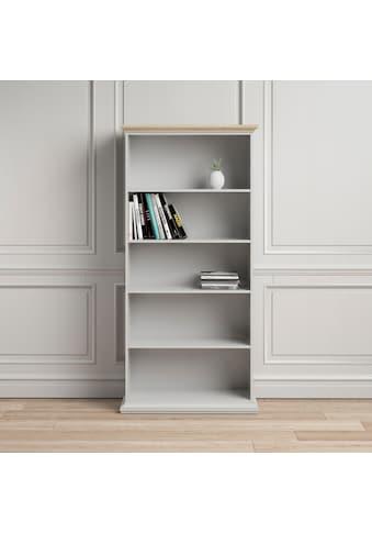 Home affaire Bücherregal, mit einer schönen Deckplatte in eiche/struktur, erstrahlt in schöner Holzoptik kaufen