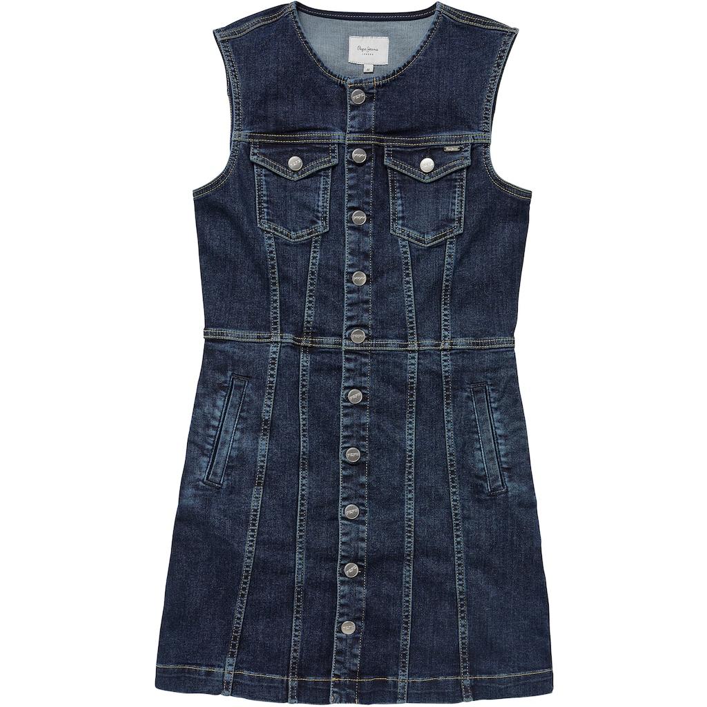 Pepe Jeans Jeanskleid »LINEA«, mit aufgesetzten Brusttaschen