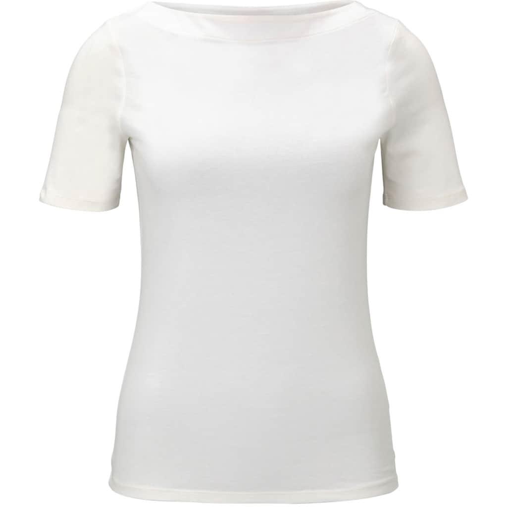 TOM TAILOR Denim T-Shirt, mit U-Boot Ausschnitt
