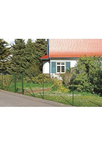 GAH Alberts Maschendrahtzaun, 100 cm hoch, 25 m, grün beschichtet, mit Bodenhülsen kaufen