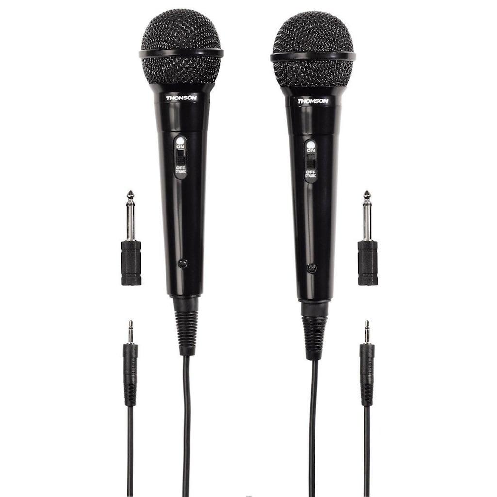Thomson Dynamisches Mikrofon M135D, Karaoke, 2er Pack, 3,5 mm