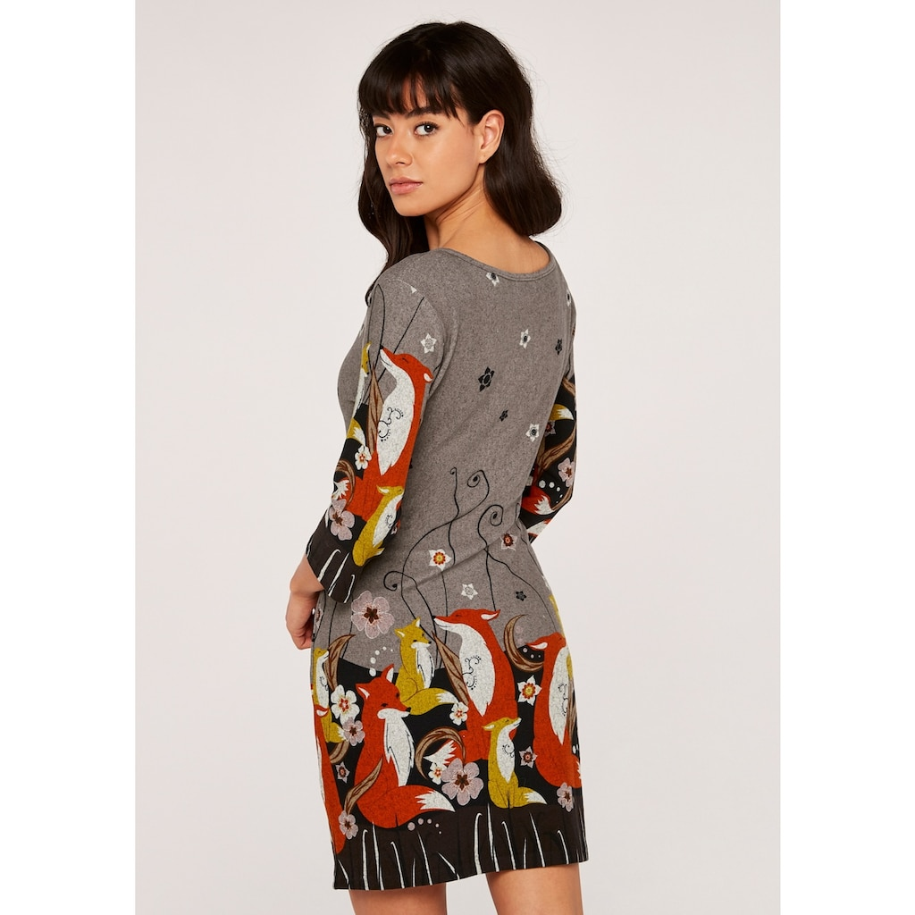 Apricot Strickkleid »Foxes Border Soft Touch Dress«, mit tollem Druck