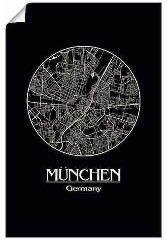 Artland Wandbild »Retro Karte München Deutschland Kreis« kaufen