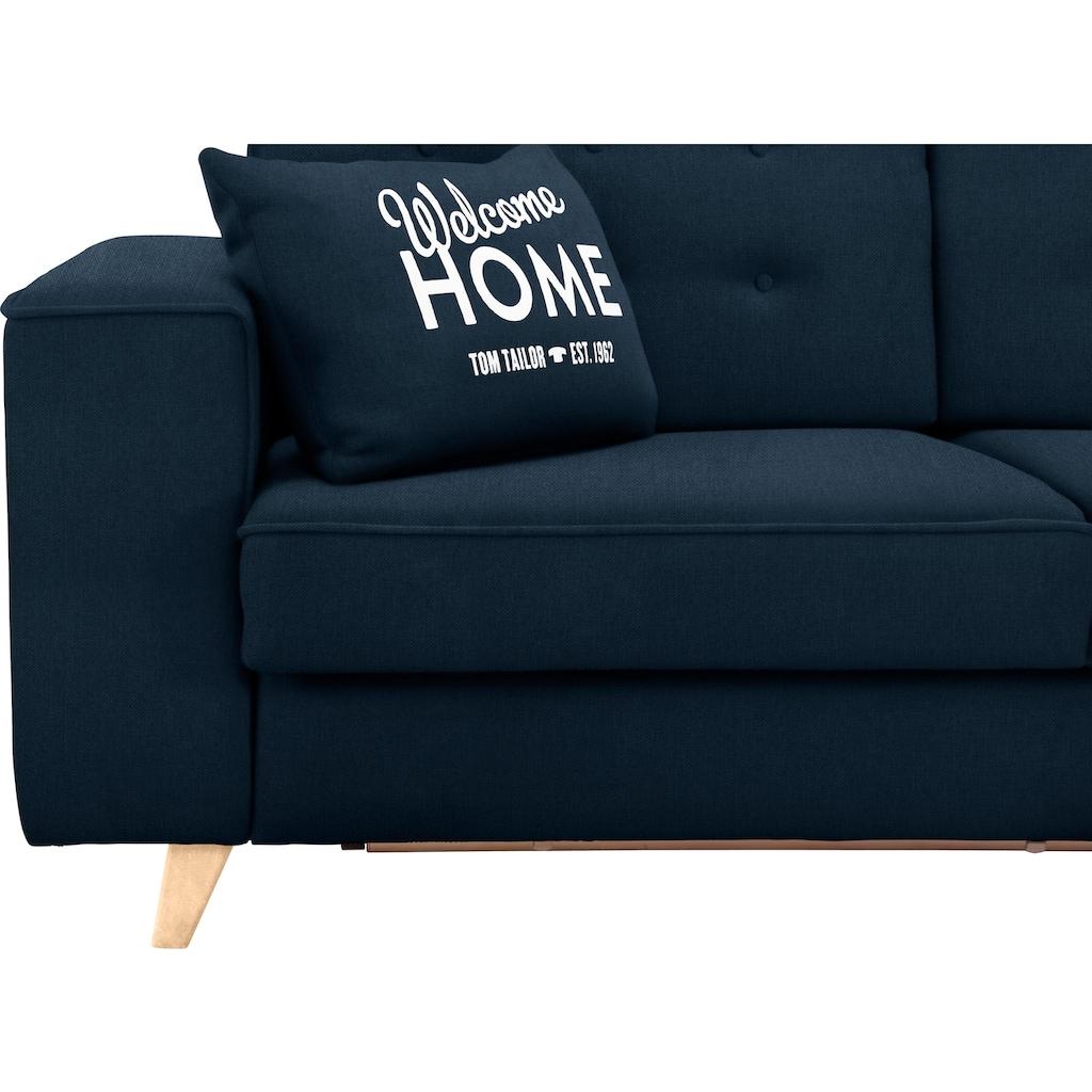 TOM TAILOR Schlafsofa »NORDIC SLEEP«, Füße in Buche, Breite 212 cm, Matratzenbreite 143 cm