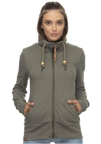 Ragwear Sweatjacke »RYLIE ZIP«, mit veganen Eisvogel-Metall-Logo-Besatz kaufen