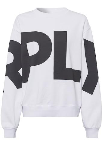 Replay Sweatshirt, mit übergroßem Ton-in-Ton- Markenprint kaufen