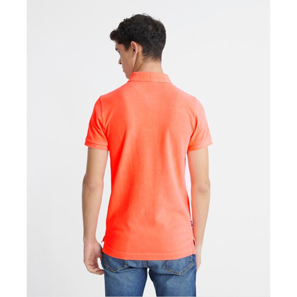Superdry Poloshirt, in gewaschener Optik