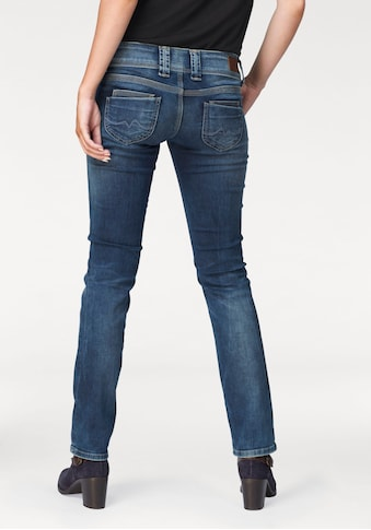 Pepe Jeans Straight-Jeans »VENUS«, mit 2-Knopf Bund und doppelter Gesäßtasche kaufen