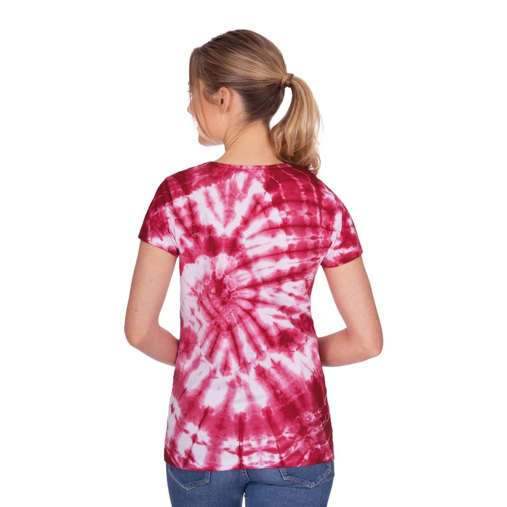 Trigema Rundhalsshirt, mit modischem Batik-Druck