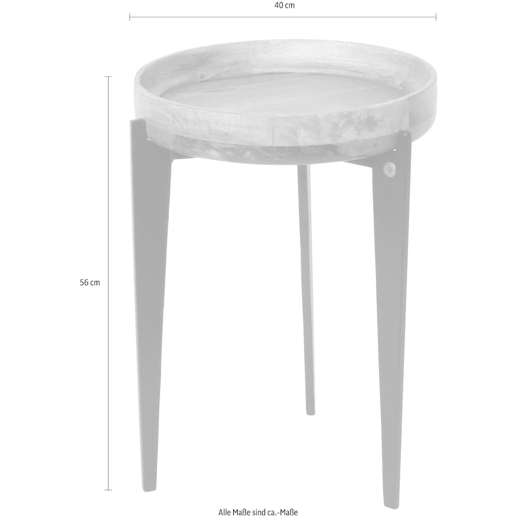 TOM TAILOR Beistelltisch »T-TRAY TABLE HIGH«, mit Tablett, rund, ø 40 cm