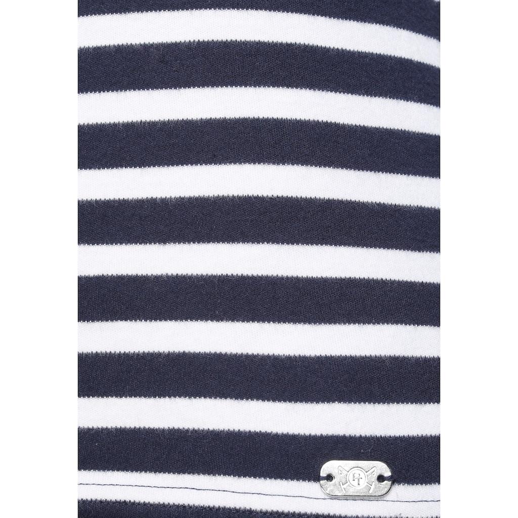 TOM TAILOR Polo Team Langarmshirt, mit breiten Rippbündchen