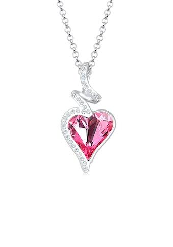 Elli Collierkettchen »Herz Liebe Swarovski® Kristalle 925 Silber Cara« kaufen