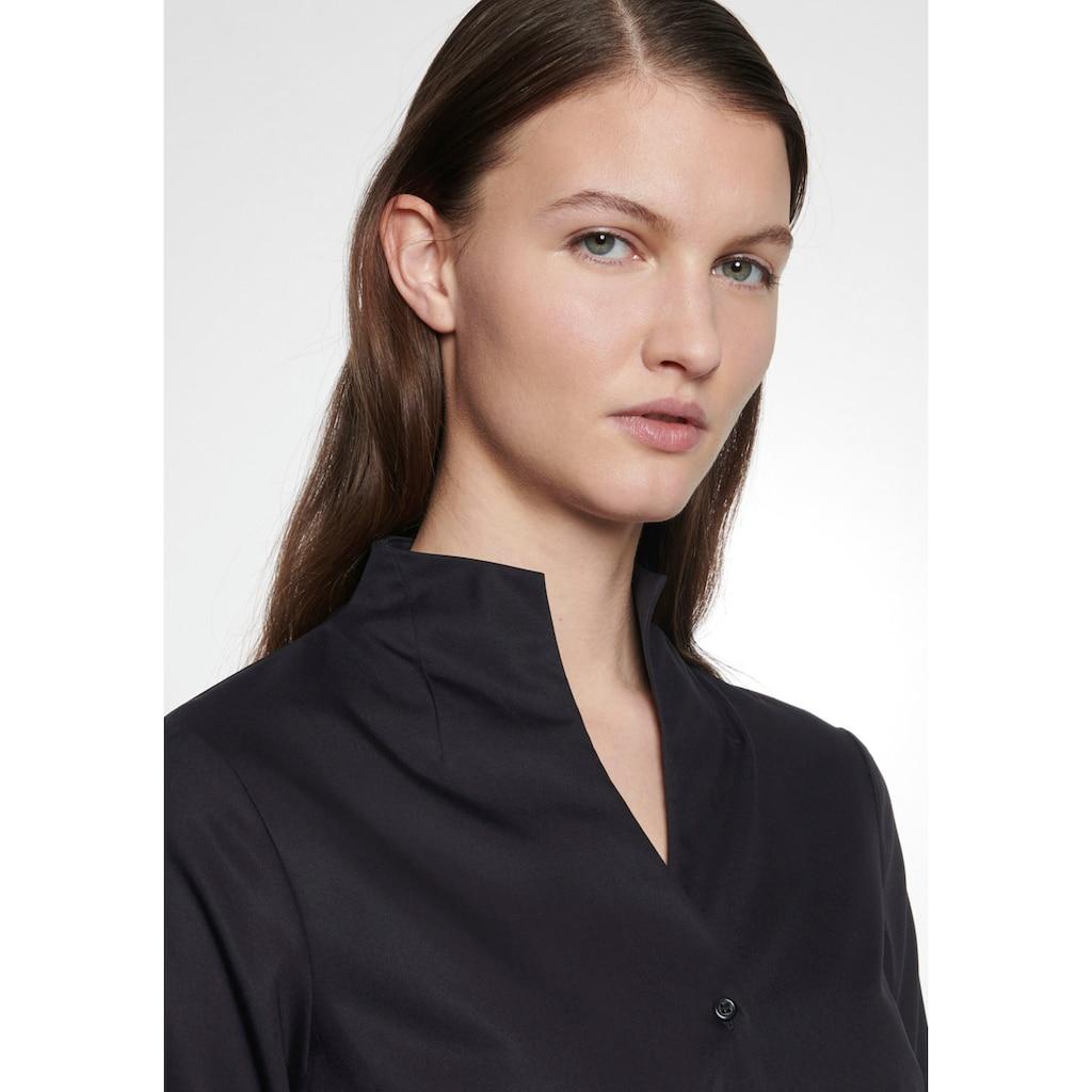 seidensticker Klassische Bluse, aus bügelfreiem Popeline, mit Kelchkragen