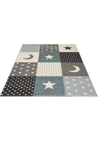 merinos Kinderteppich »Pastel Kids 20340«, rechteckig, 13 mm Höhe, Mond und Sterne, Konturenschnitt kaufen