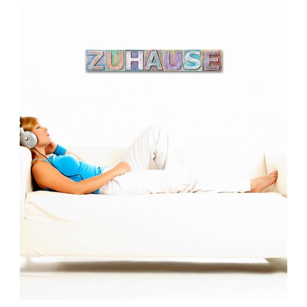 Home affaire Dekoobjekt »Zuhause«, Maße (B/H): ca. 60/13 cm