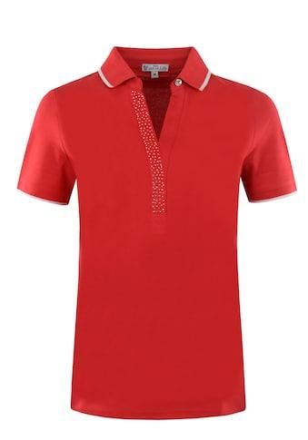 Hajo Poloshirt, Piqué mit Strassapplikation kaufen