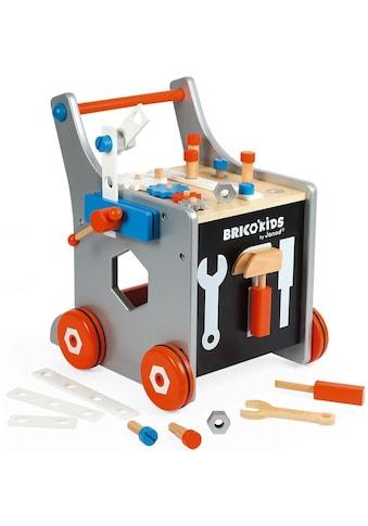 Janod Werkbank »Brico'Kids Werkbankwagen groß«, mit 25 Zubehörteilen kaufen
