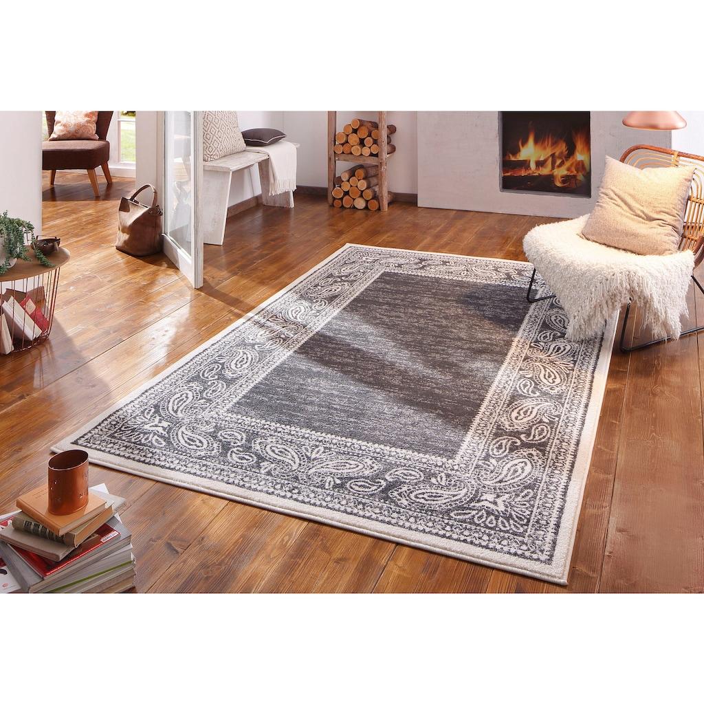 my home Teppich »Maite«, rechteckig, 8 mm Höhe, mit Bordüre, Wohnzimmer