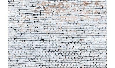 Komar Fototapete »White Brick«, bedruckt-3D-Optik-Kunst, ausgezeichnet lichtbeständig kaufen