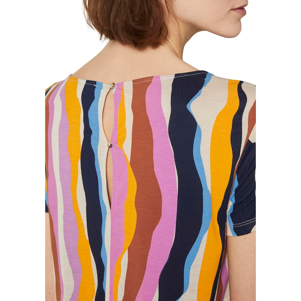 TOM TAILOR Denim T-Shirt, mit Allover-Print