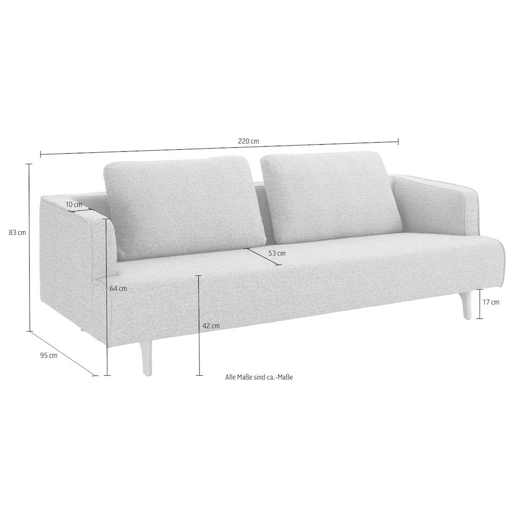 hülsta sofa 4-Sitzer »hs.440«, wahlweise in Stoff oder Leder, Fuß Eiche natur