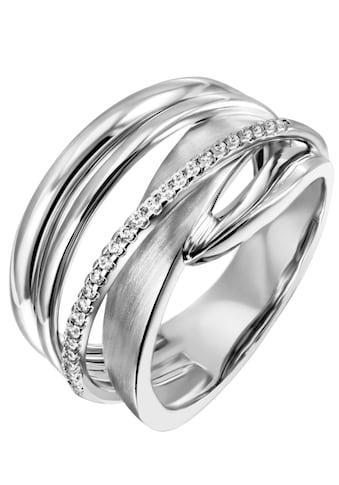 Firetti Silberring »mehrreihig, teilweise verschlungen, rhodiniert« kaufen