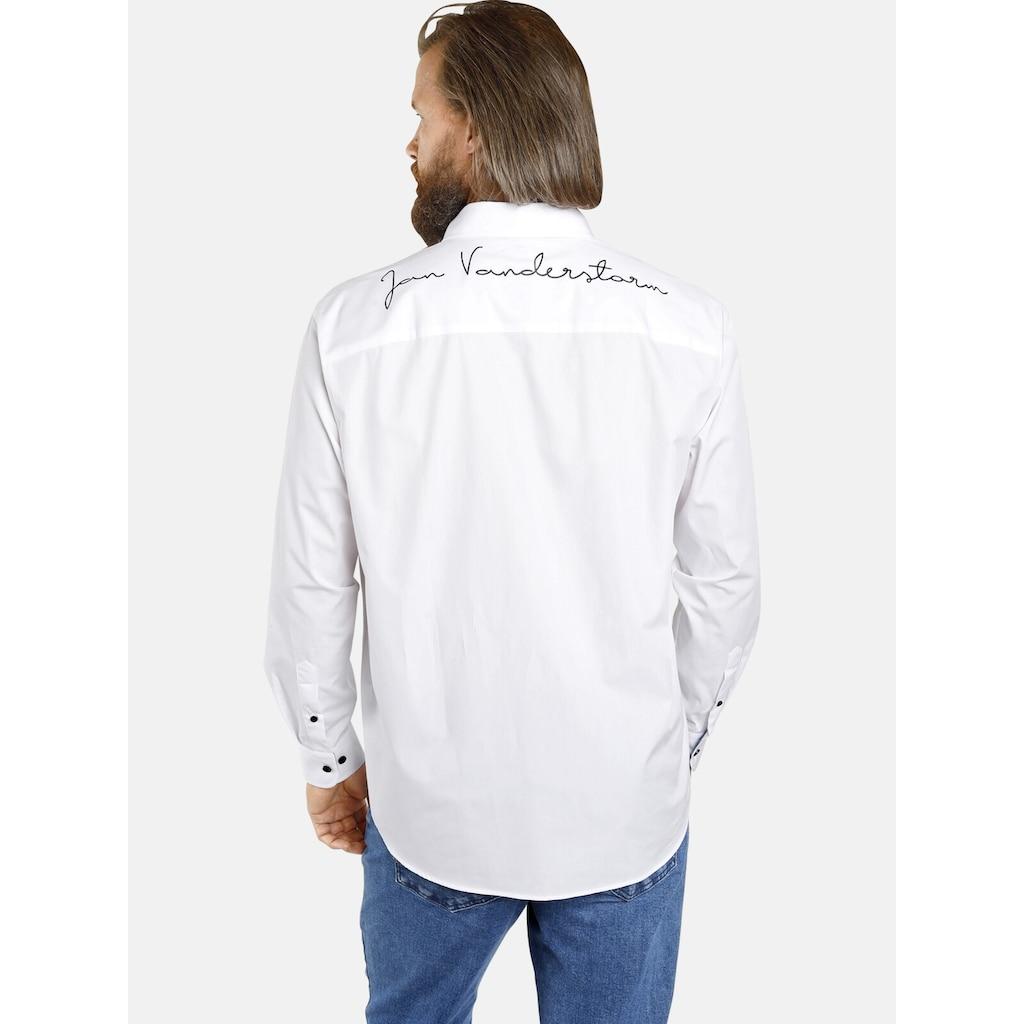 Jan Vanderstorm Langarmhemd »HAFIS«, mit bequemer Rückenfalte