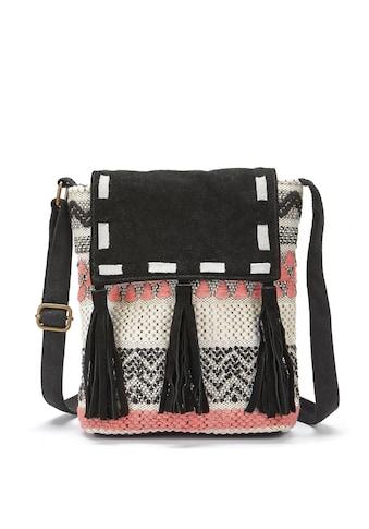 LASCANA Umhängetasche, Strandtasche mit Lederapplikation und im Ethnolook kaufen