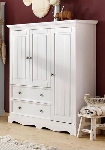 Home affaire Wäscheschrank »Melissa«, aus massiver Kiefer, mit geschwungener Sockelleiste, Breite 138 cm kaufen
