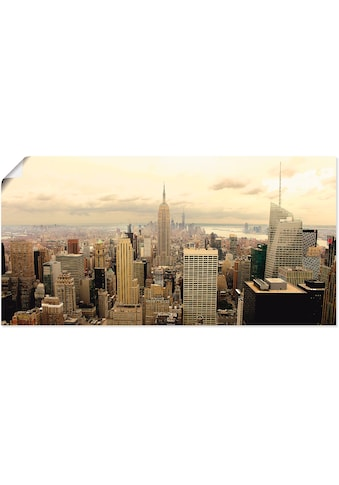 Artland Wandbild »Skyline Manhattan - New York«, Amerika, (1 St.), in vielen Größen &... kaufen