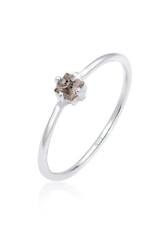 Elli Fingerring »Bandring Rauchquartz Stein 925 Silber« kaufen