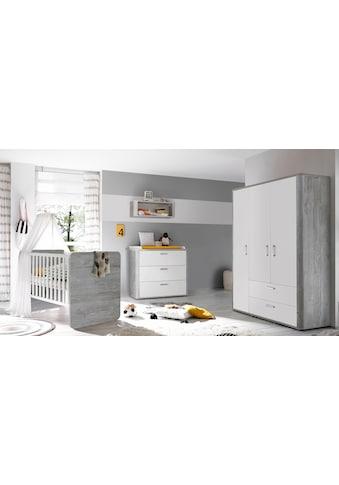 Babyzimmer-Komplettset »Aarhus«, (Set, 3 St.), Bett + Wickelkommode + 3 trg. Schrank kaufen