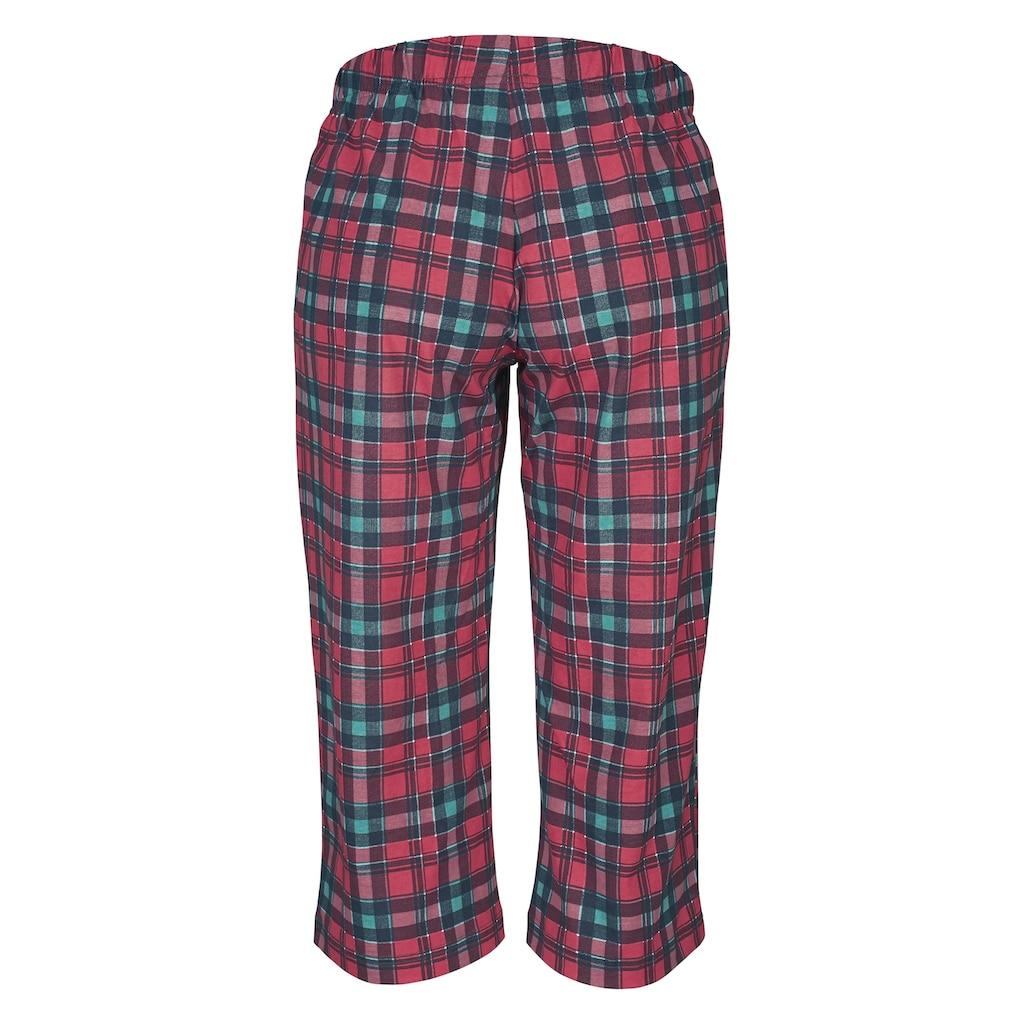 H.I.S Capri-Pyjama, mit karierter Hose und passendem Basic-Shirt