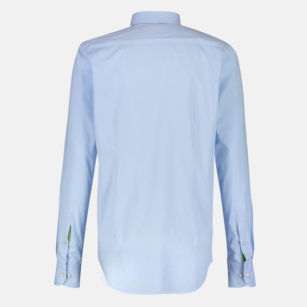 LERROS Langarmhemd, unifarben, mit Button-Down-Kragen