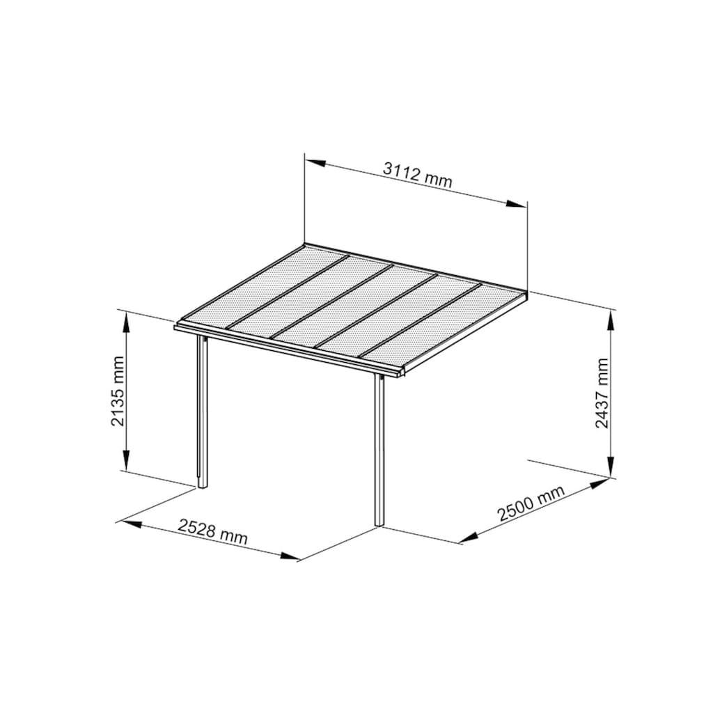 Beckmann Terrassendach »Trend Gr. 1«, BxT: 312x250 cm