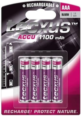 tecxus Batterie »Nickel-Metallhydrid Akku (NiMH), 1,2 V«, AAA (Micro)/HR03 - 1100 mAh... kaufen