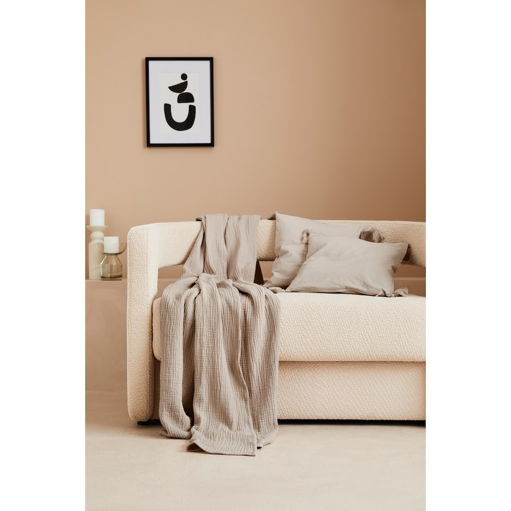 LeGer Home by Lena Gercke Wohndecke »Hevin«, Tagesdecke im Baumwoll - Crinkle Effekt