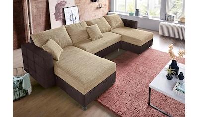 sit&more Wohnlandschaft, inklusive Bettfunktion und Bettkasten, Recamiere beidseitig montierbar kaufen