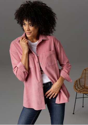 Aniston CASUAL Hemdbluse, mit Ton-in-Ton-farbenen Druckknöpfen - NEUE KOLLEKTION kaufen