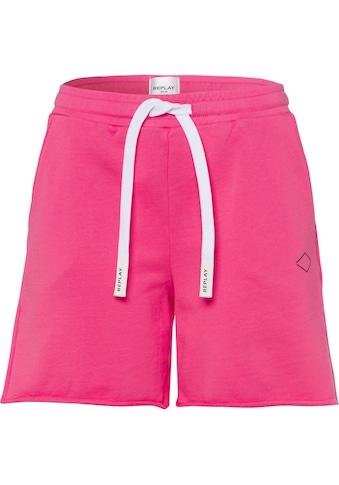 Replay Shorts, mit tonigem Labelprint kaufen