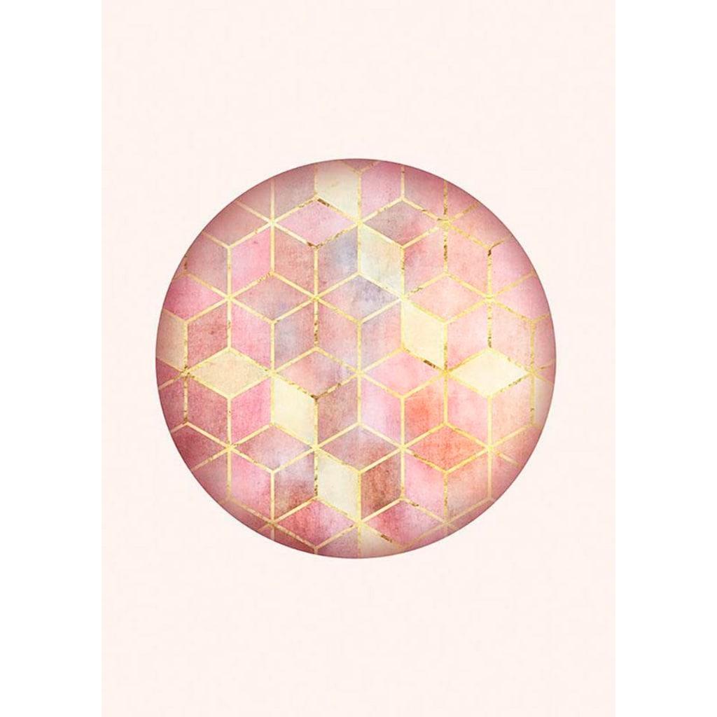Komar Poster »Mosaik Circle Rosso«, Formen-Kunst, Höhe: 40cm