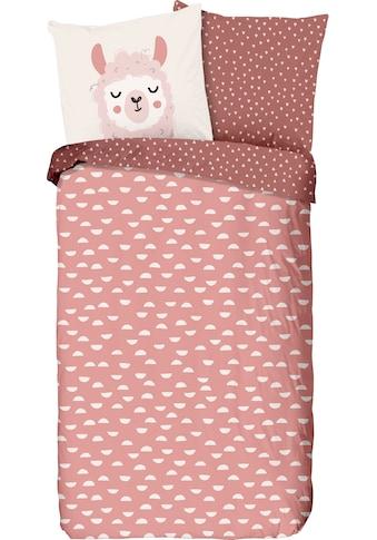 good morning Kinderbettwäsche »Lama«, mit mit niedlichem Print kaufen