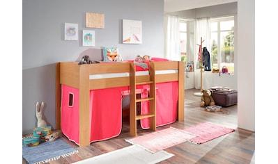 Relita Hochbett »Andi«, mit Rolllattenrost und Vorhang kaufen