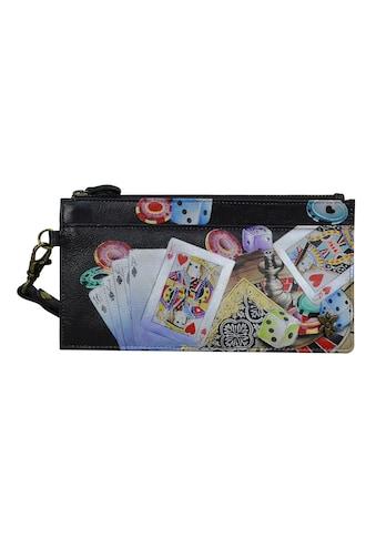 ANUSCHKA Brieftasche »High Roller aus handbemaltem Leder«, mit RFID-Blockierung kaufen