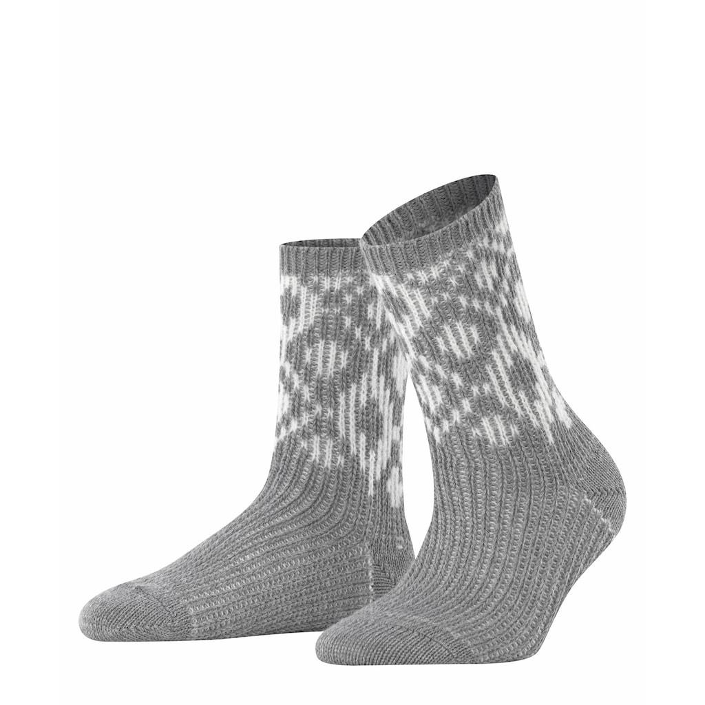 Esprit Socken »Diamond«, (1 Paar), mit Wollanteil